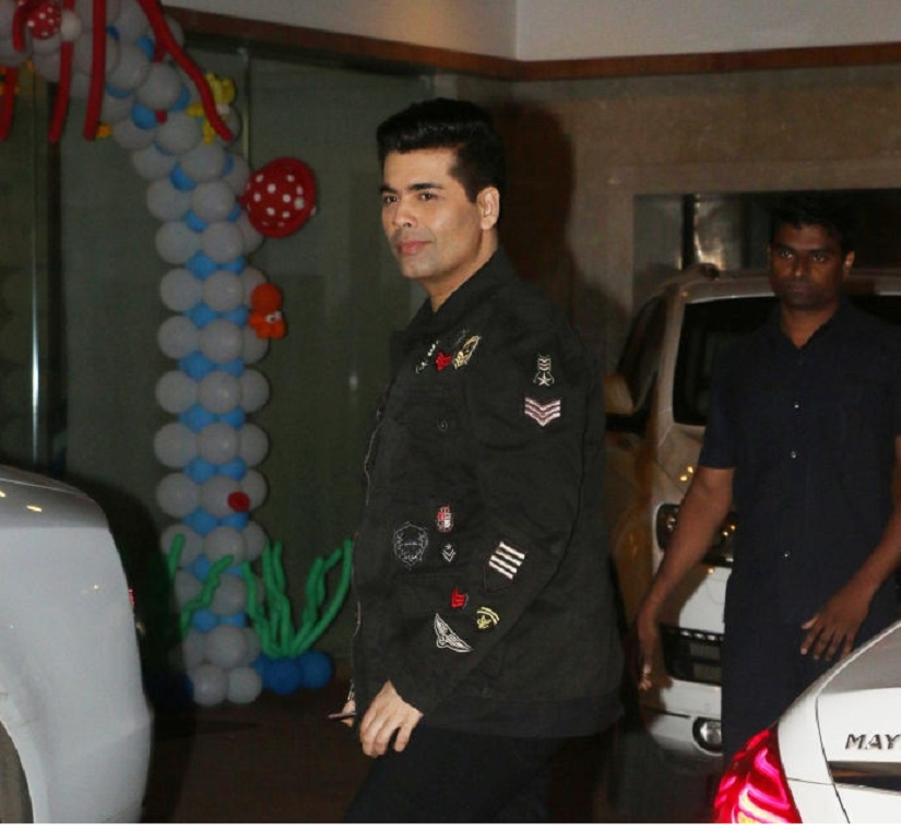 MUMBAI, INDIA JUNE 01: Karan Johar at Tusshar Kapoor's son Laksshya's first birthday bash in Mumbai.(Photo by Milind Shelte/India Today Group/Getty Images)