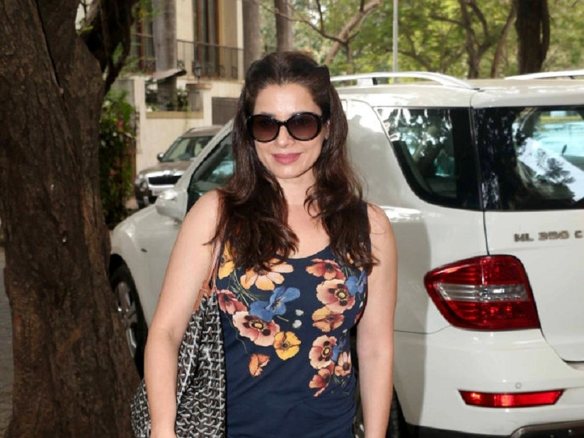 MUMBAI, INDIA JUNE 01: Neelam Kothari at Tusshar Kapoor's son Laksshya's first birthday bash in Mumbai.(Photo by Milind Shelte/India Today Group/Getty Images)