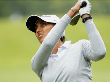 File image of Aditi Ashok. Image courtesy: Twitter/@LPGA