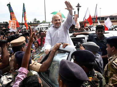 File image of Amit Shah in Cochin. PTI