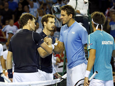 File image of Andy Murray and with Argentina's Juan Martin del Potro.Reuters