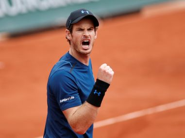 Andy Murray celebrates during his third round match against Juan Martin Del Potro. Reuters
