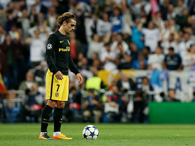 Atletico Madrid's Antoine Griezmann during UEFA Champions League Semi Final First Leg against Reak Madrid. Reuters