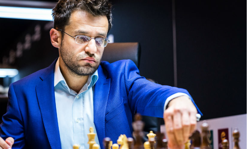 Showing some high class play Levon Aronian is now the joint leader after beating Kramnik (image courtesy: Lennart Ootes)