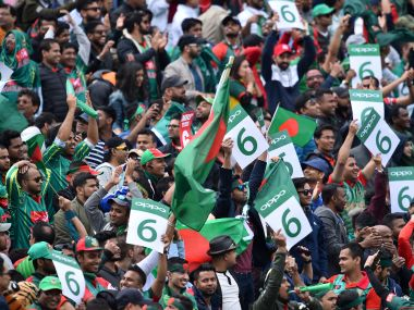 Bangladesh fans wave banners during their match against Australia. AFP