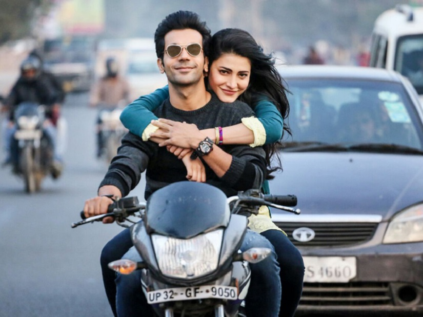 Rajkummar Rao and Shruti Haasan in a still from Behen Hogi Teri