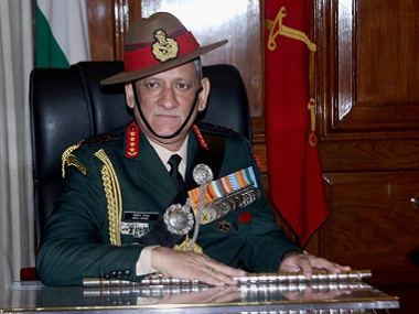 File Image of Chief of Army Staff Bipin Rawat. PTI