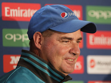 Pakistan head coach Mickey Arthur attends a press conference at the Oval cricket ground in London, Saturday June 17, 2017. India are due to play Pakistan in the ICC Trophy final cricket match at the Oval on Sunday. (AP Photo/Tim Ireland)