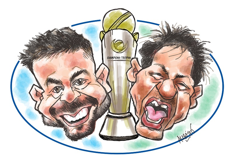 ICC Champions Trophy 2017: The million dollar question now is — 'Will Pakistan surprise India in the final?' Illustration courtesy Austin Coutinho