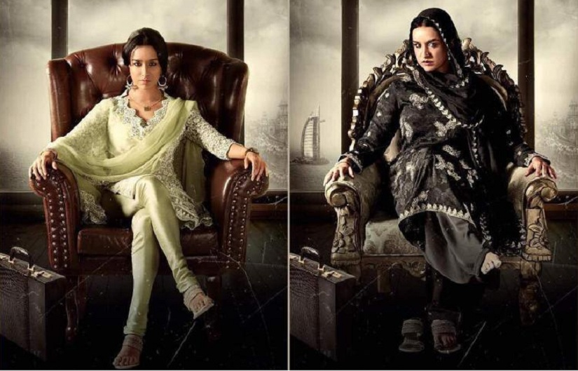 Shraddha Kapoor's two looks from Haseena. Image via Twitter