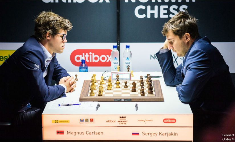 The World Champion (left) against his most recent challenger ended in a victory for the World Champion. Image courtesy: Lennart Ootes