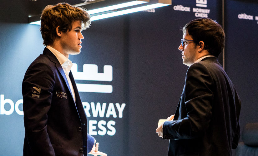 Magnus Carlsen is still searching for his first win of the tournament (image courtesy: Lennart Ootes)