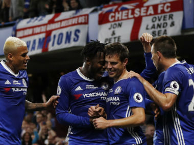 Chelsea finished as champions in the 2016-17 season of the Premier League. Reuters
