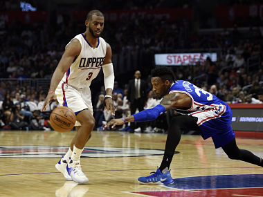 File image of Los Angeles Clippers guard Chris Paul. Reuters