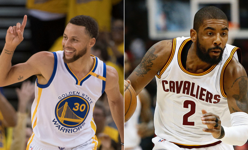 Stephen Curry vs Kyrie Irving. Reuters