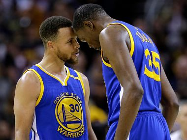 Durant and Curry lead from the front. Twitter @ESPNNBA