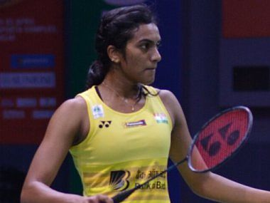 Image of PV Sindhu in action Image Courtesy: Twitter/BAI_Media