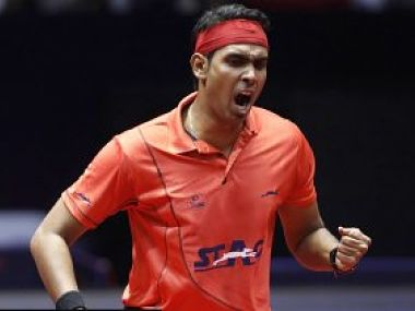 File image of India's Achanta Sharath Kamal who will be part of the RP-SG Mavericks in Ultimate Table Tennis. Image courtesy: Twitter/ @UltTableTennis