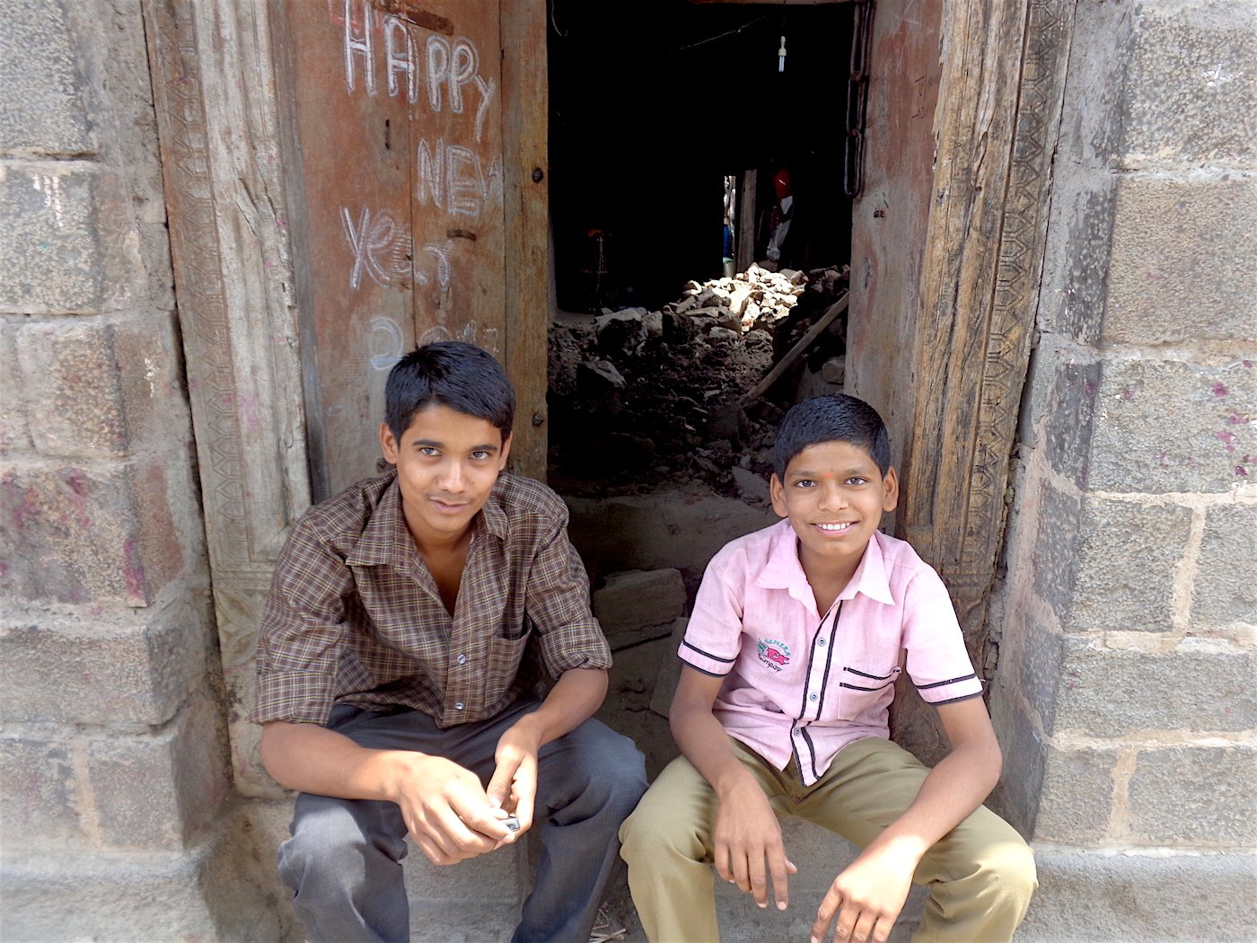 With their school closed for the summer vacation, Prithviraj (left) and Aadesh Shirsath spend their mornings fetching water for the family. Parth MN