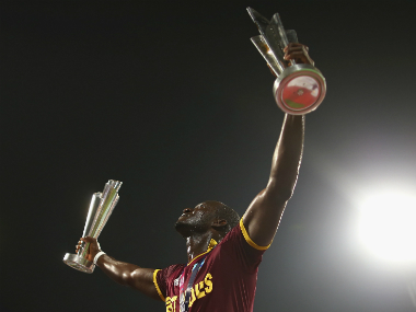 File image of Darren Sammy after leading his team to victory in 2016 T20 World Cup. Getty images
