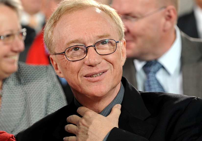 "FILE - In this Oct. 10, 2010 file photo, Israeli author and journalist David Grossman reacts after receiving the peace prize of the German booktrade, in Frankfurt, Germany. Grossman has won the Man Booker International Prize for his novel ""A Horse Walks Into a Bar."" The award was announced Wednesday, June 14, 2017, in London. (AP Photo/dapd, Thomas Lohnes, File)"