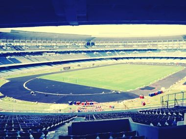 A view of Jawaharlal Nehru Stadium, Delhi. Image courtesy FIFA