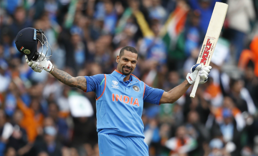 Shikhar Dhawan averages 69.73 from 16 matches in ICC ODI tournaments. AP