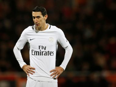 Football Soccer - FC Lorient v  Paris St Germain - French Ligue 1 - Moustoir stadium - 12/03/2017. Paris St Germain's Angel Di Maria looks on. REUTERS/Stephane Mahe - RTX30PYD