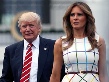File image of US president Donald Trump and first lady Melania Trump. AP