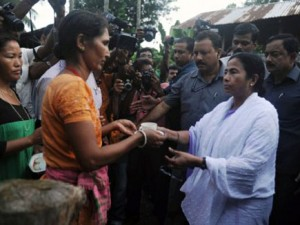 File image of West Bengal chief minister Mamta Banerjee visiting the protesters in Darjeeling demanding for a separate Gorkhaland. PTI