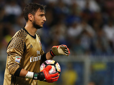 File image of AC Milan's goalkeeper Gianluigi Donnarumma. AFP