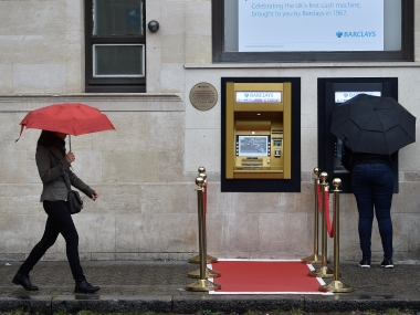 The golden ATM in Enfield, UK. Reuters
