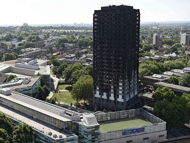 The Grenfell Tower in west London was engulfed by a fire on 14 June. AP