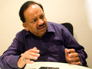 File image of Union minister Harshvardhan. PTI