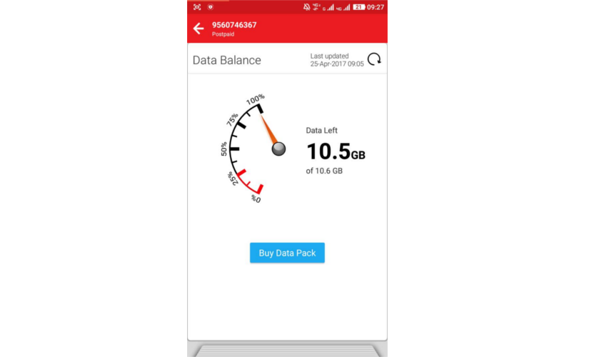 How to check Airtel data