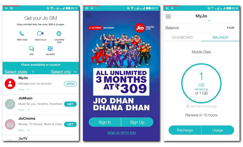 How to check Jio data balance 825