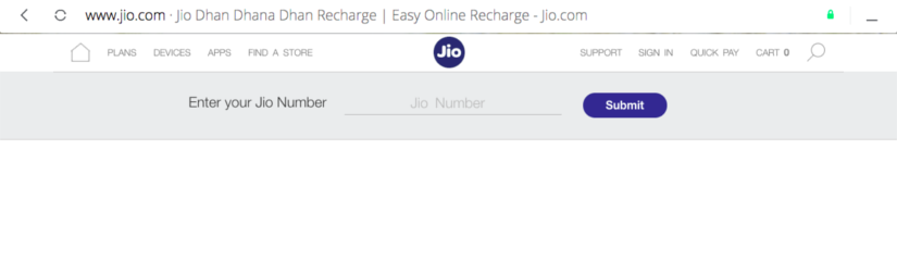 How to recharge jio