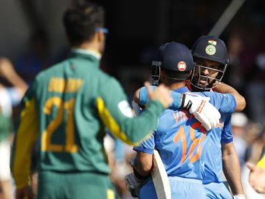 Yuvaj Singh (right) celebrates with Virat Kohli after their win over South Africa. Reuters