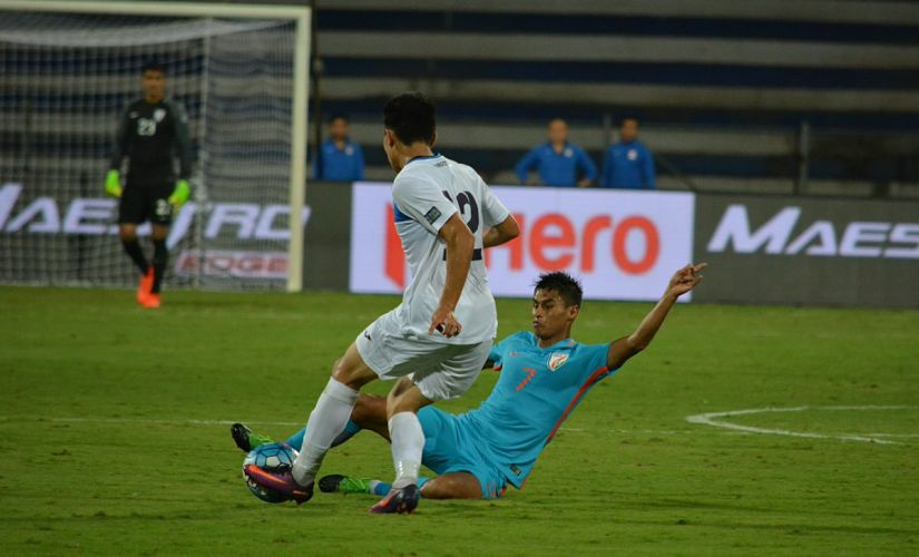 India staved off constant pressure from Kyrgyz Republic to emerge winners. Twitter/ @IndianFootball