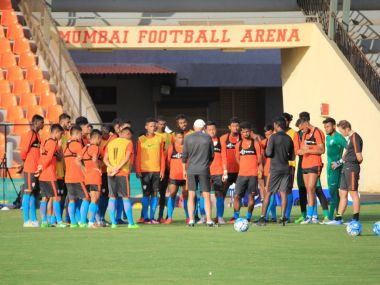File photo of Indian football team training. Twitter/@IndianFootball