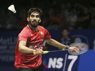India's Srikanth Kidambi in action against South Korea's Son Wan Ho during their men's singles semi final. AP