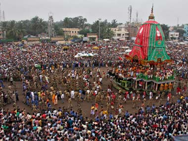 Worshipers at the Rath Yatra. Reuters