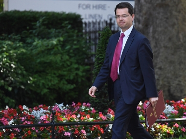 File image of Secretary of State for Northern Ireland James Brokenshire. Getty Images