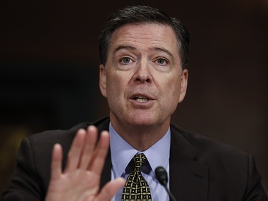 Former FBI director James Comey. AP
