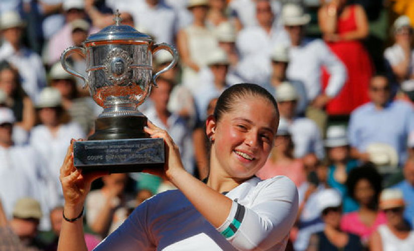 Jelena Ostapenko won her first tour title at the French Open at the young age of 20. AP