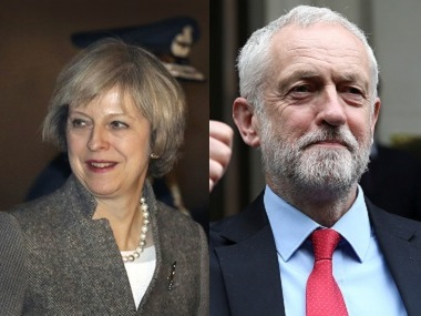 File image of Therese May and Jeremy Corbyn. AP