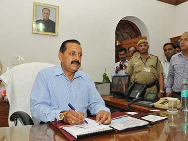 File image of Jitendra Singh. Image courtesy: PIB
