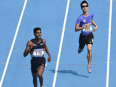 File image of India's Jithin Paul(L), who was found with banned substance in his hostel room. AFP