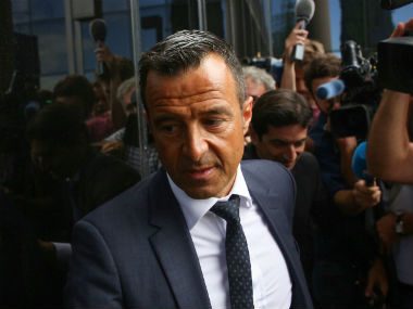 Jorge Mendes arrives at the court in Madrid for questioning over Radamel Falcao's alleged tax evasion. Reuters