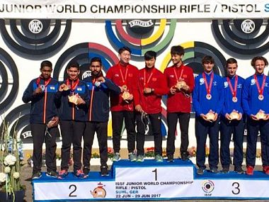 India finished second at ISSF Junior World Championship. NRAI official website